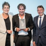 M100 Media Award 2018 with Jann Jakobs, Deniz Yücel and Ines Pohl