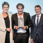 M100 Media Award 2018 with Jann Jakobs, Deniz Yücel and Ines Pohl