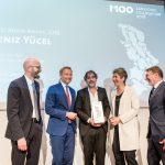 M100 Media Award 2018 with Jann Jakobs, Ines Pohl, Deniz Yücel, Christian Lindner and Moritz van Dülmen
