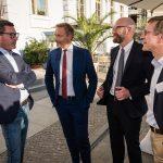 M100 Media Award 2018 with Christoph von Marschall, Moritz van Dülmen, Christian Lindner and Kai Diekmann
