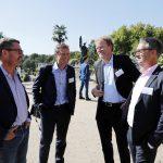 M 100 Sanssouci Colloquium 2016 Orangerie mit Kai Diekmann, Mathias Müller von Blumencron (FAZ), Jens de Buhr (JDB Media) und Gabor Steingart (Handelsblatt) Foto: Fabian Matzerath