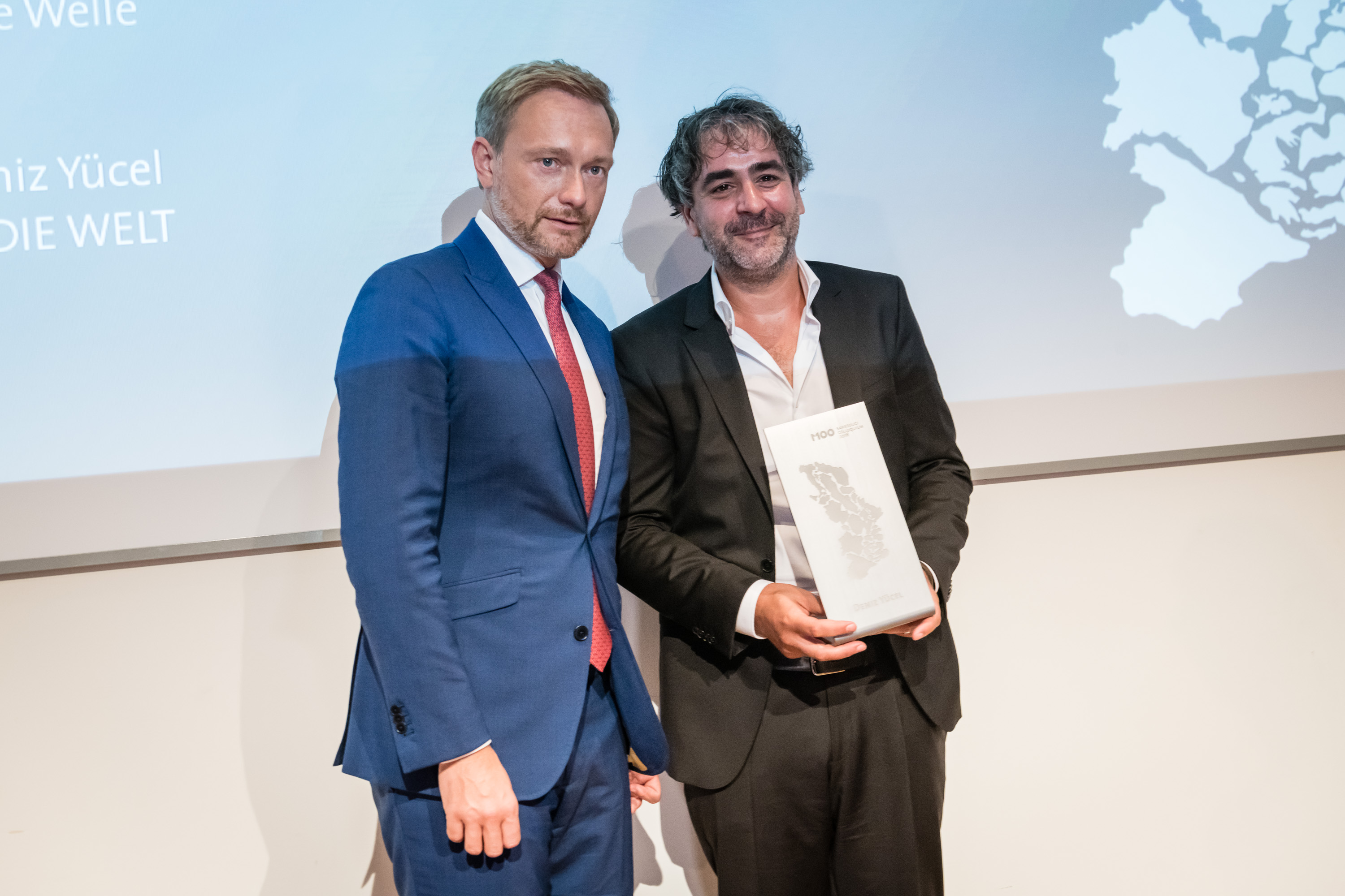 M100 Media Award 2018 mit Deniz Yücel und Christian Lindner