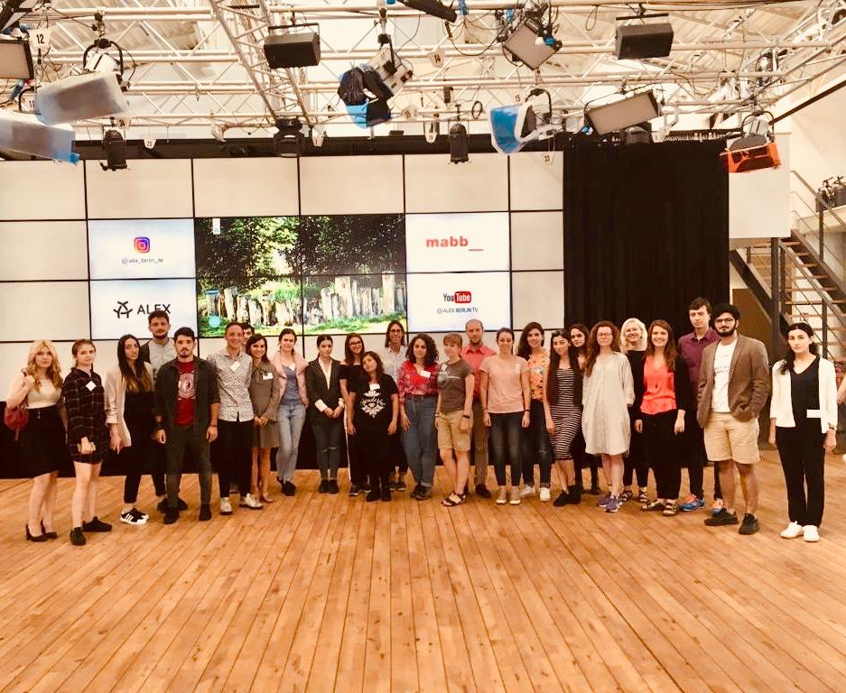 Einführung in das deutsche Mediensystem bei ALEX Berlin beim M100YEJ 2018