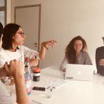 Redaktionelle Betreuung der Projekte durch Julia Brötz beim M100YEJ 2018