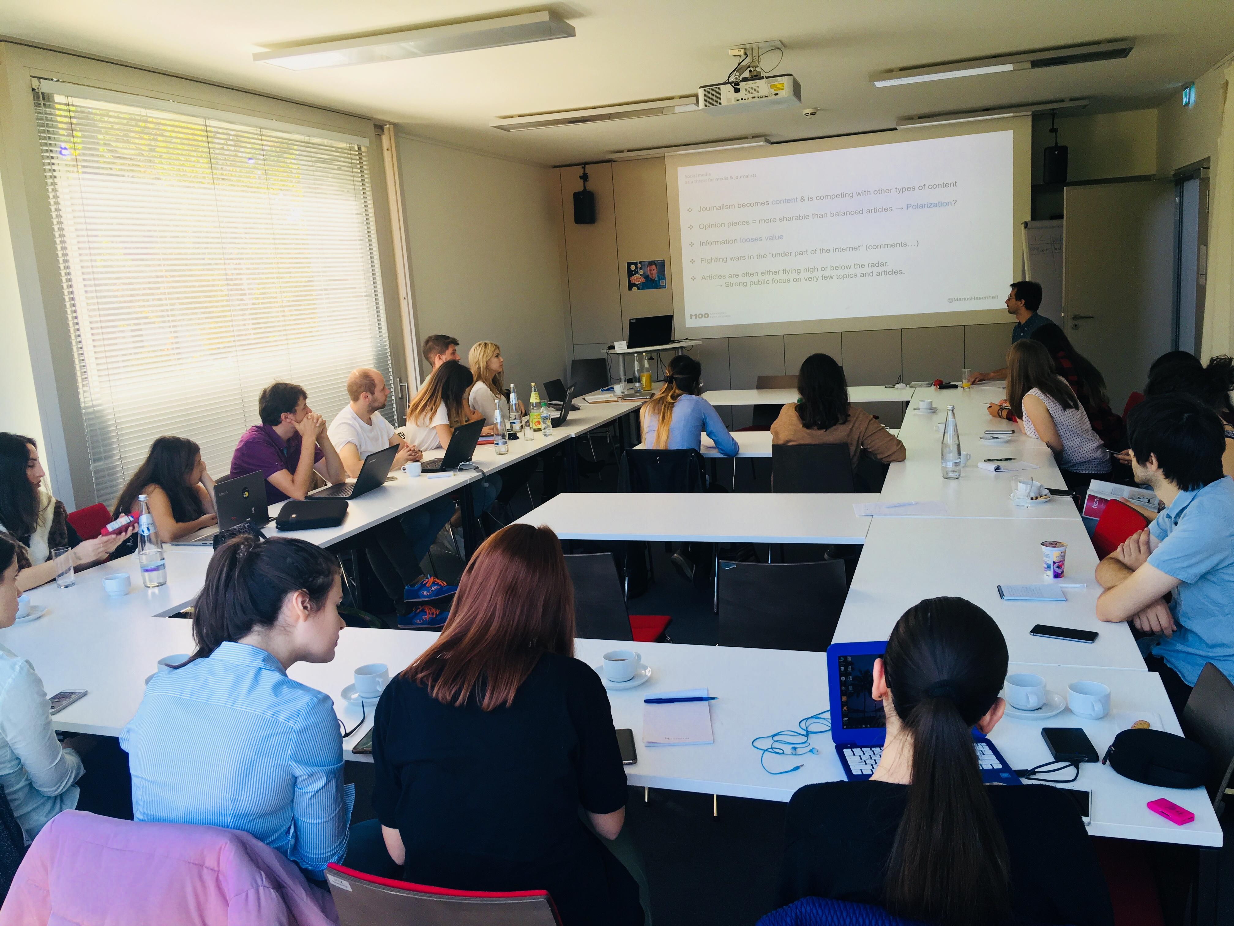 Workshop beim M100YEJ 2018 mit Marius Hasenheit: Social Campaigning