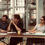 Pitch bei ALEX Berlin vor einer Jury mit dem ALEX Team und dem Influencer Florian Prokop beim M100YEJ 2018