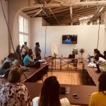 Pitch der eigenen Webvideo-Projekte bei ALEX Berlin beim M100YEJ 2018