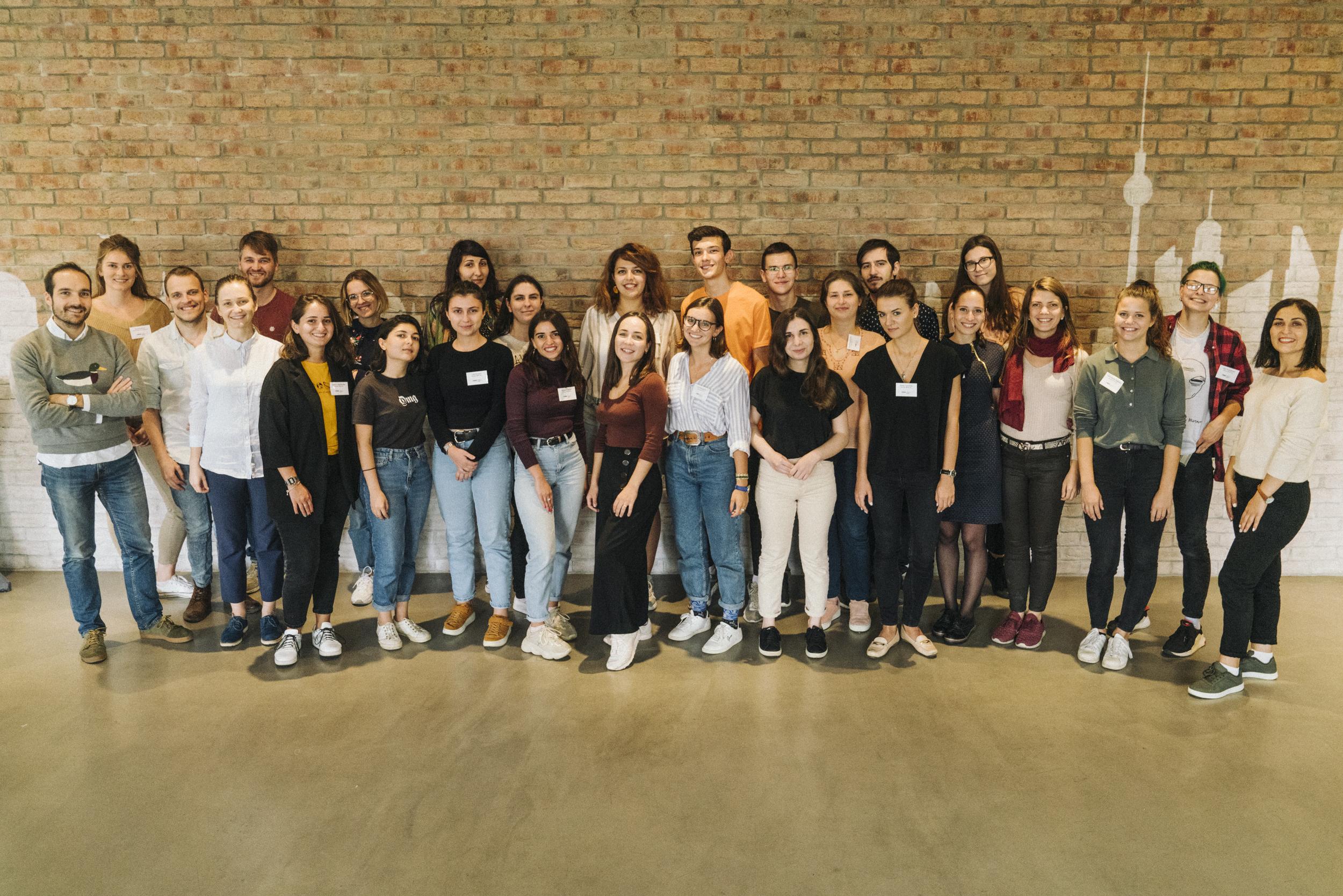 Gruppenfoto der M100 Young European Journalists 2019